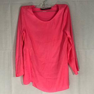Zara Sheer Pink Tunic